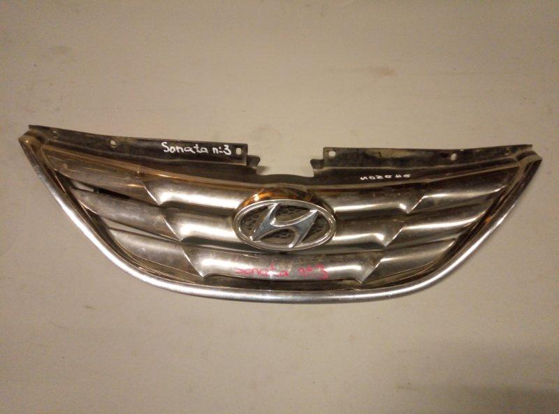 Решетка радиатора Hyundai Sonata 2012 (б/у)