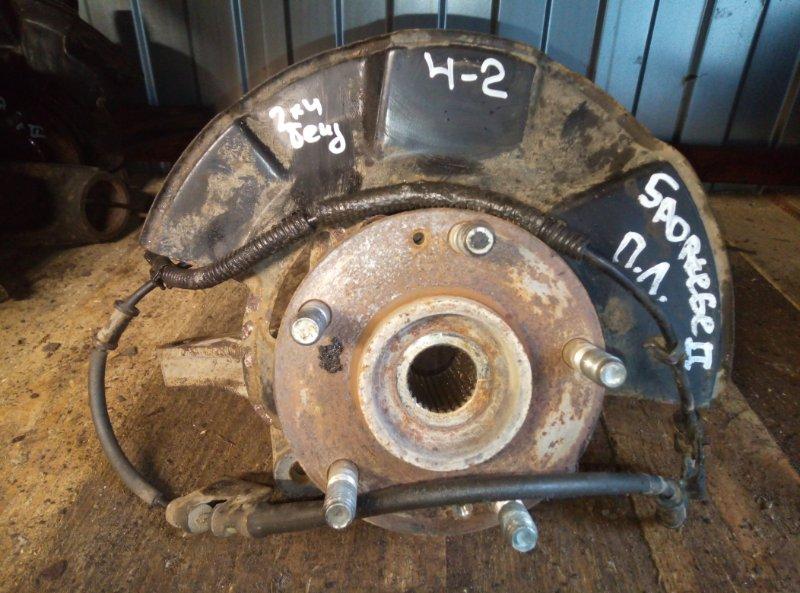 Кулак поворотный (цапфа) Kia Sportage G4GC 2010 передний левый (б/у)