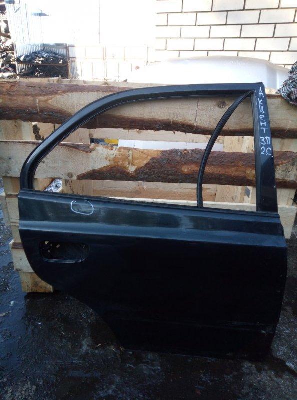 Дверь Hyundai Accent G4EC 2011 задняя правая (б/у)