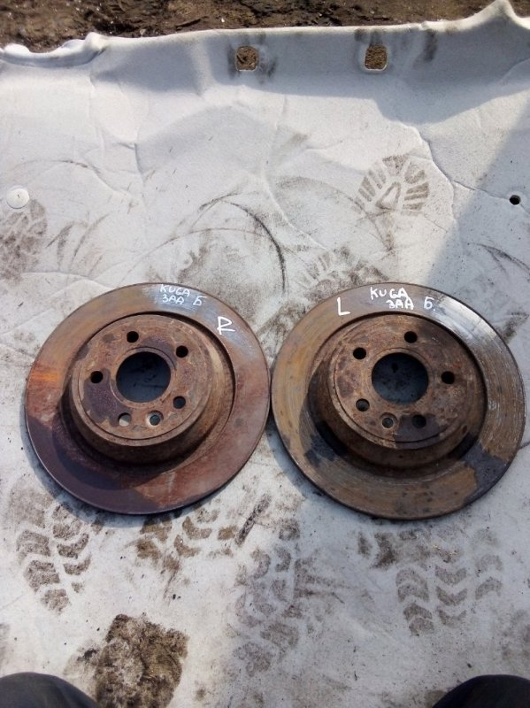Тормозной диск Ford Kuga UFDA 2012 задний (б/у)