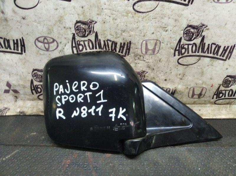 Зеркало Mitsubishi Pajero Sport 1 4D56 2008 переднее правое (б/у)
