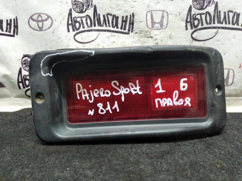 Фонарь Mitsubishi Pajero Sport 1 4D56 2008 задний правый (б/у)