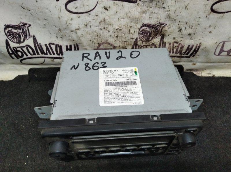 Магнитола Toyota Rav 4 Xa 20 1AZFE 2001 (б/у)
