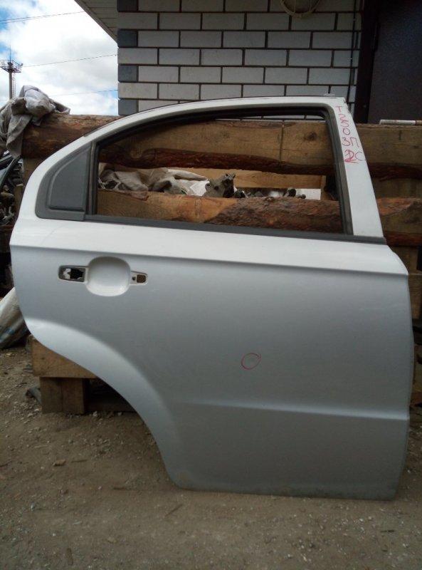 Дверь Chevrolet Aveo T 250 B12D1 2009 задняя правая (б/у)
