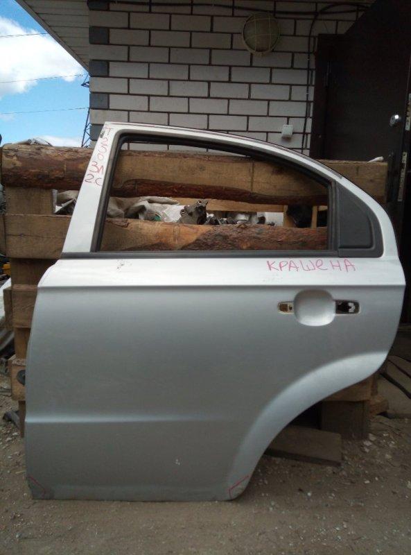 Дверь Chevrolet Aveo T 250 B12D1 2009 задняя левая (б/у)