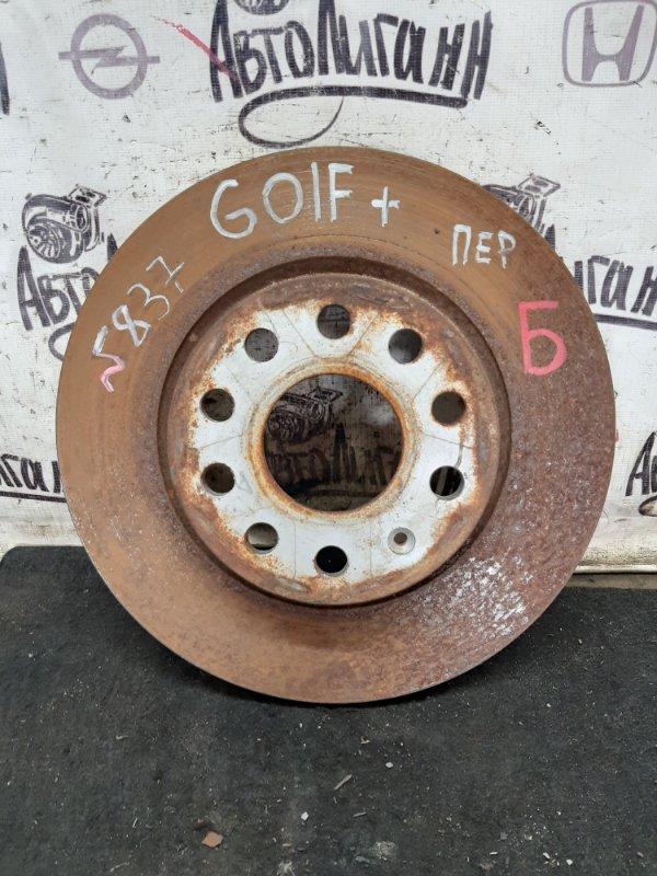 Тормозной диск Volkswagen Golf Plus CBZ 2013 передний (б/у)