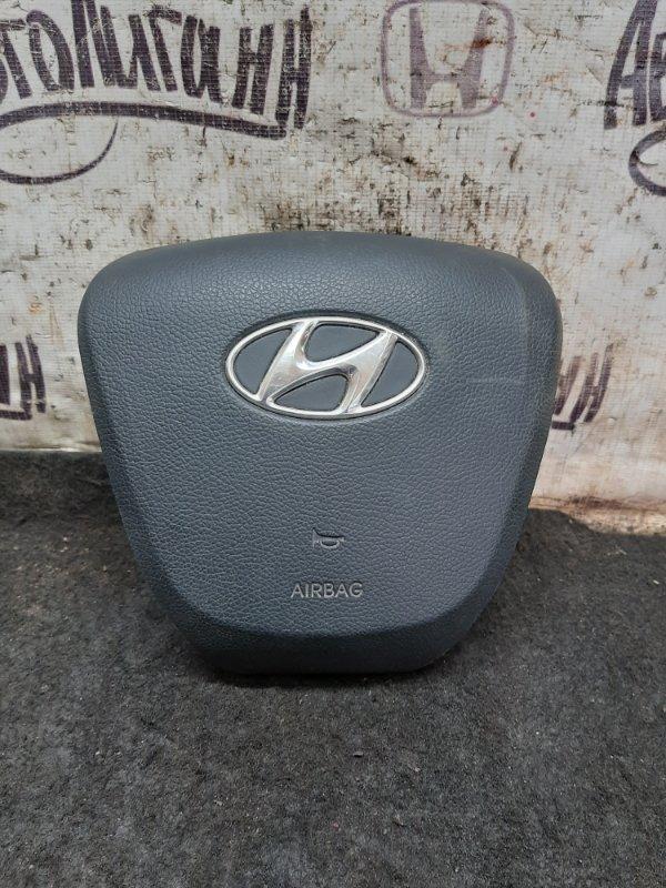 Подушка в руль Hyundai Solaris ХЭТЧБЕК G4FC 2013 (б/у)