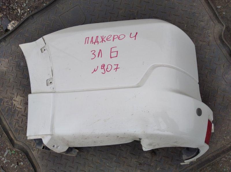 Клык заднего бампера Mitsubishi Pajero 4 6G74 2012 задний левый (б/у)