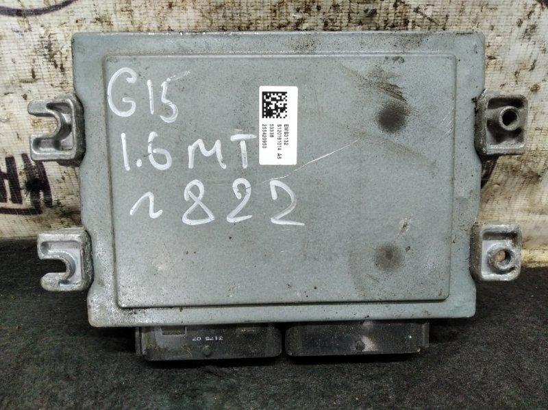 Блок управления двигателем Nissan Almera G15 K4MA490 2015 (б/у)