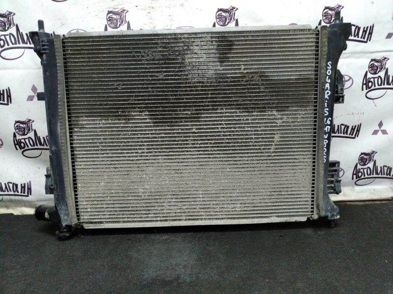 Радиатор охлаждения Hyundai Solaris СЕДАН G4FC 2012 (б/у)