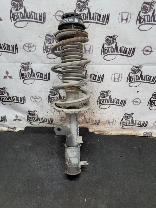 Амортизатор в сборе Hyundai Solaris СЕДАН G4FC 2012 передний правый (б/у)