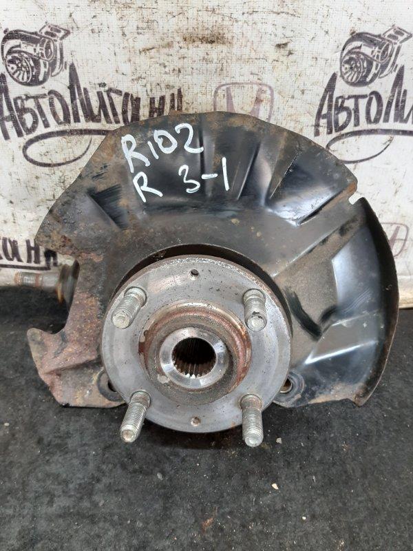 Кулак (цапфа) Kia Rio 2 ХЭТЧБЕК G4EE 2010 передний правый (б/у)