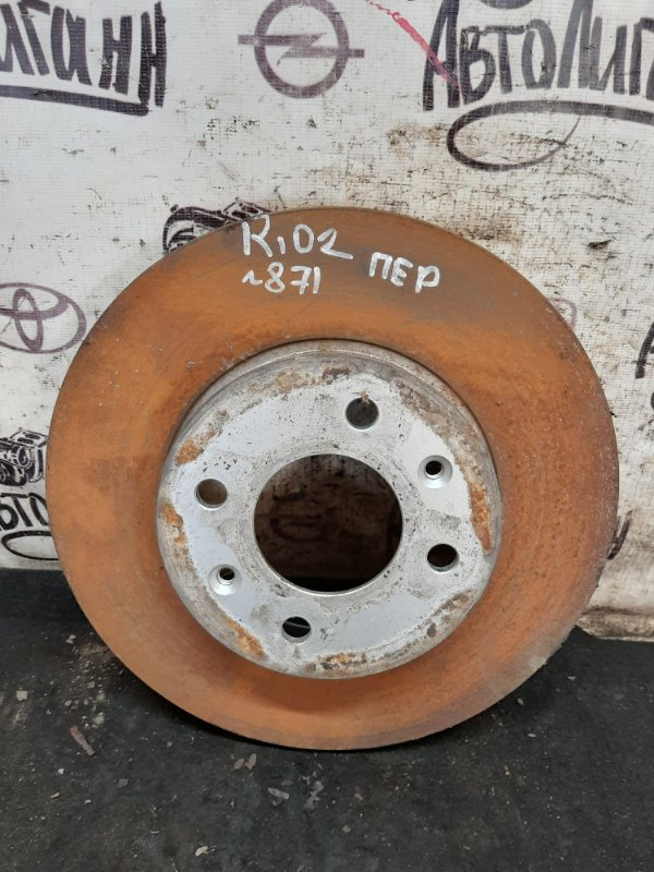 Тормозной диск Kia Rio 2 ХЭТЧБЕК G4EE 2010 передний (б/у)