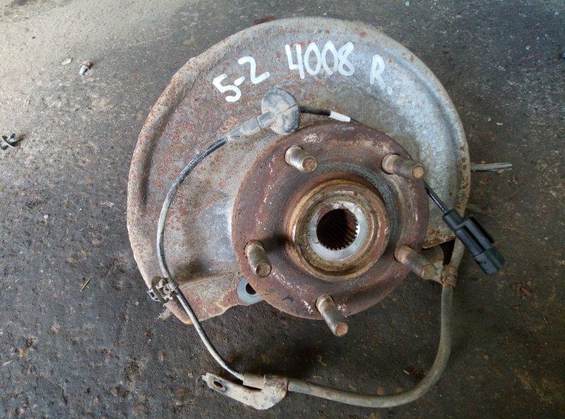 Кулак поворотный (цапфа) Peugeot 4008 4B11 2012 передний правый (б/у)
