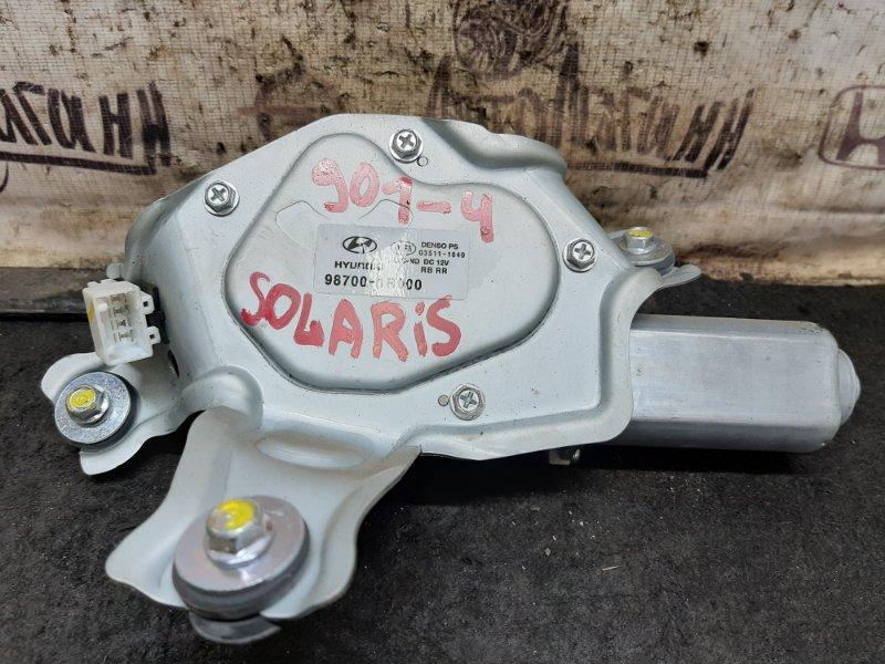 Мотор дворников Hyundai Solaris ХЭТЧБЕК G4FC 2012 задний (б/у)