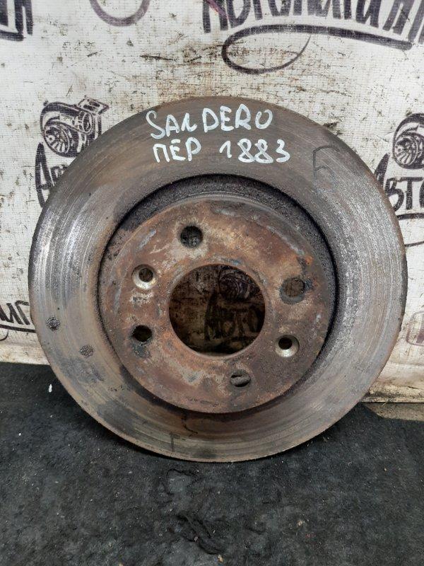 Тормозной диск Renault Sandero K7MF710 2011 передний (б/у)