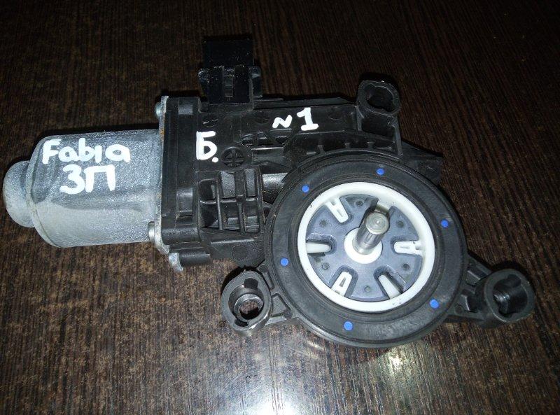 Мотор стеклоподъемника Skoda Fabia CFN 2011 задний правый (б/у)