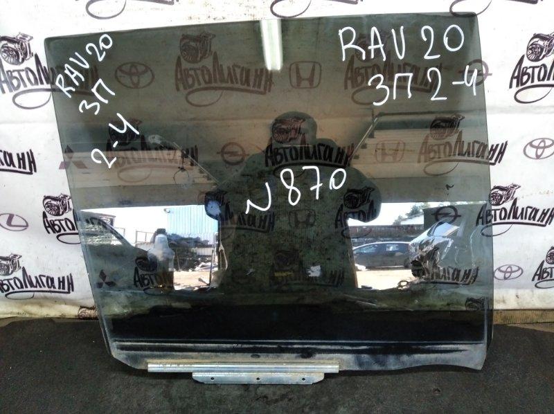 Стекло Toyota Rav 4 Xa 20 1AZFE 2000 заднее правое (б/у)