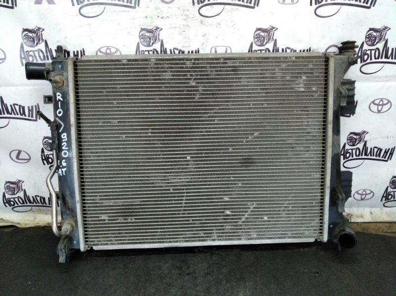 Радиатор охлаждения Kia Rio G4FC 2013 (б/у)