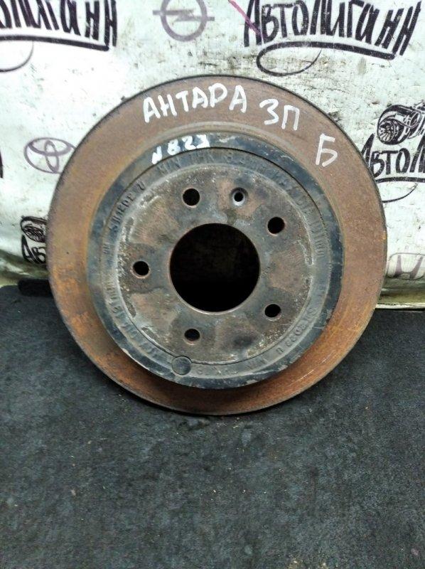 Тормозной диск Opel Antara LE5 2012 задний правый (б/у)