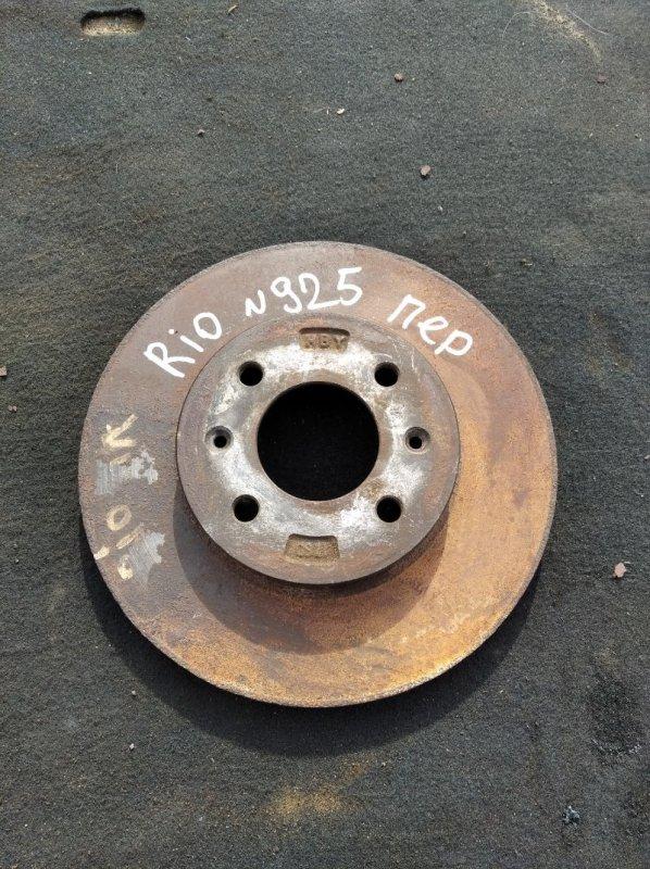 Тормозной диск Kia Rio СЕДАН G4FC 2012 передний (б/у)