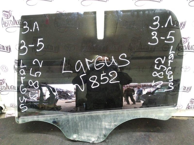 Стекло Lada Largus K9K8796 2009 заднее левое (б/у)
