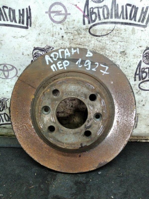Тормозной диск Renault Logan K4MC697 2011 передний (б/у)