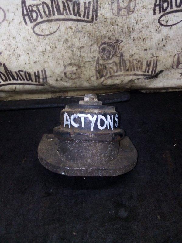 Подушка двигателя Ssang Yong Actyon Sports 2 D20DTR 2012 левая (б/у)