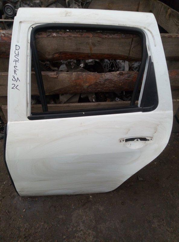 Дверь Renault Duster F4RA400 2012 задняя левая (б/у)