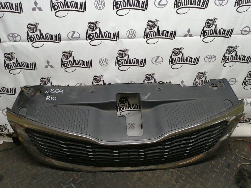 Решетка радиатора Kia Rio СЕДАН G4FA 2013 передняя (б/у)