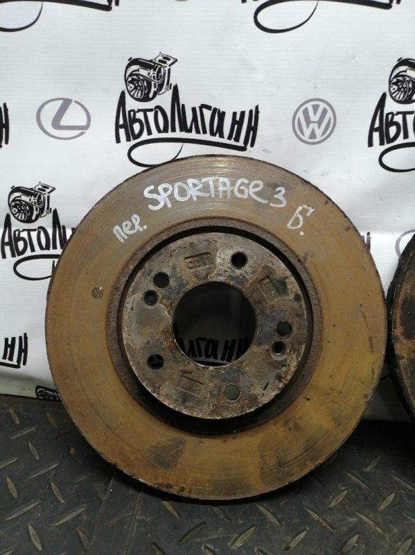 Тормозной диск Kia Sportage 3 G4KD 2013 передний (б/у)