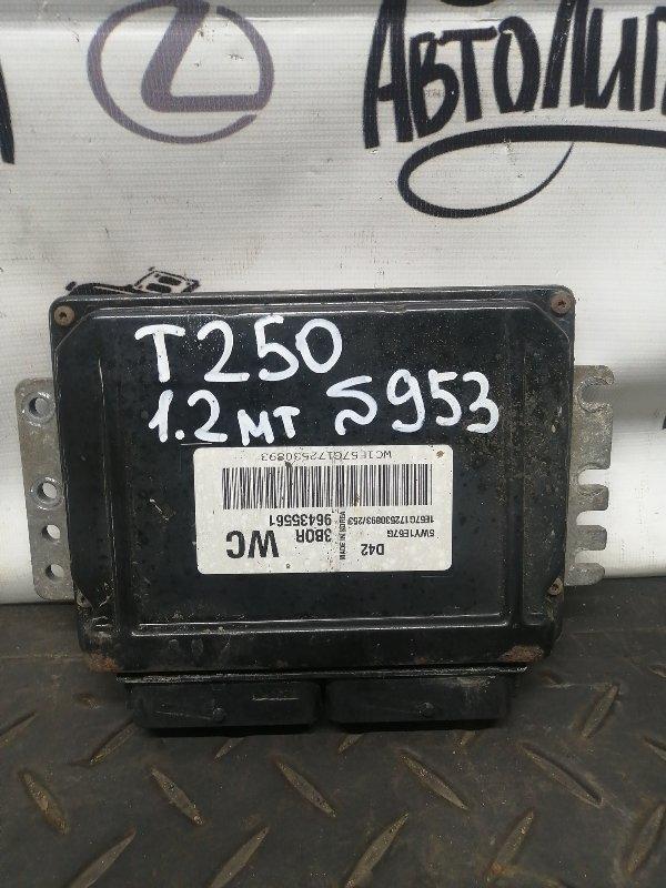 Блок управления двигателем Chevrolet Aveo T 250 B12S1 2007 (б/у)