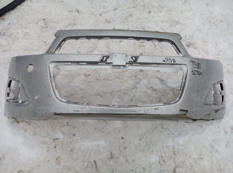 Бампер Chevrolet Aveo T300 F16D4 2012 передний (б/у)