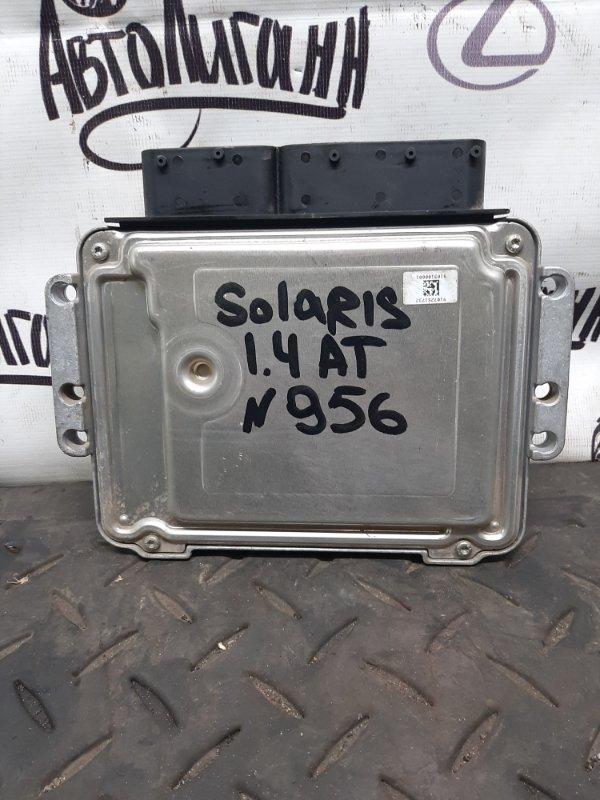 Блок управления двигателем Hyundai Solaris ХЭТЧБЕК G4FA 2013 (б/у)