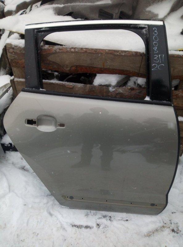 Дверь Peugeot 3008 EP6CDTMD 2012 задняя правая (б/у)