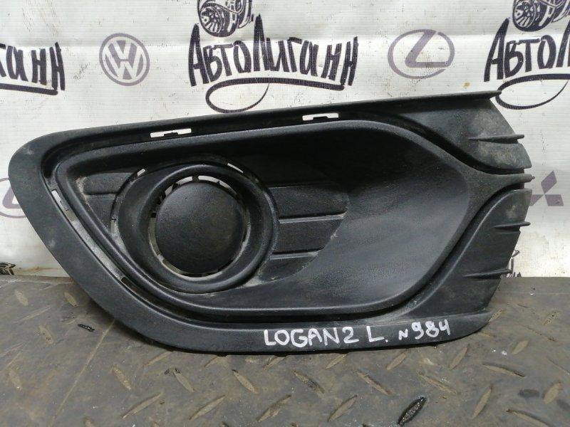 Накладка противотуманной фары Renault Logan 2 K7MA812 2016 передняя левая (б/у)
