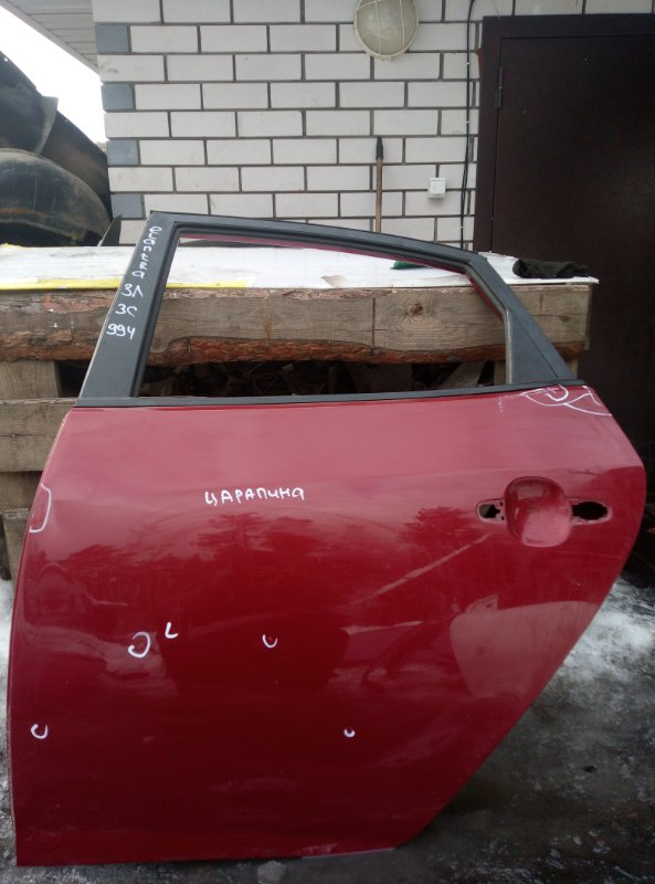 Дверь Hyundai Elantra G4FC 2007 задняя левая (б/у)