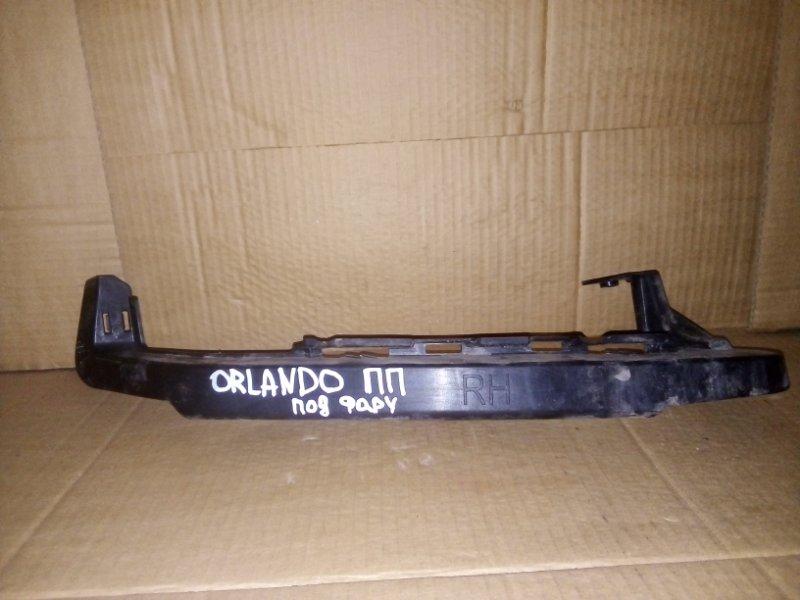 Кронштейн бампера Chevrolet Orlando F18D4 2012 передний правый (б/у)