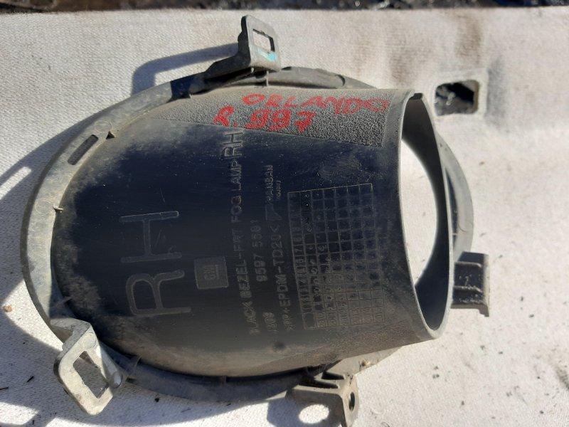Накладка противотуманной фары Chevrolet Orlando F18D4 2012 передняя правая (б/у)