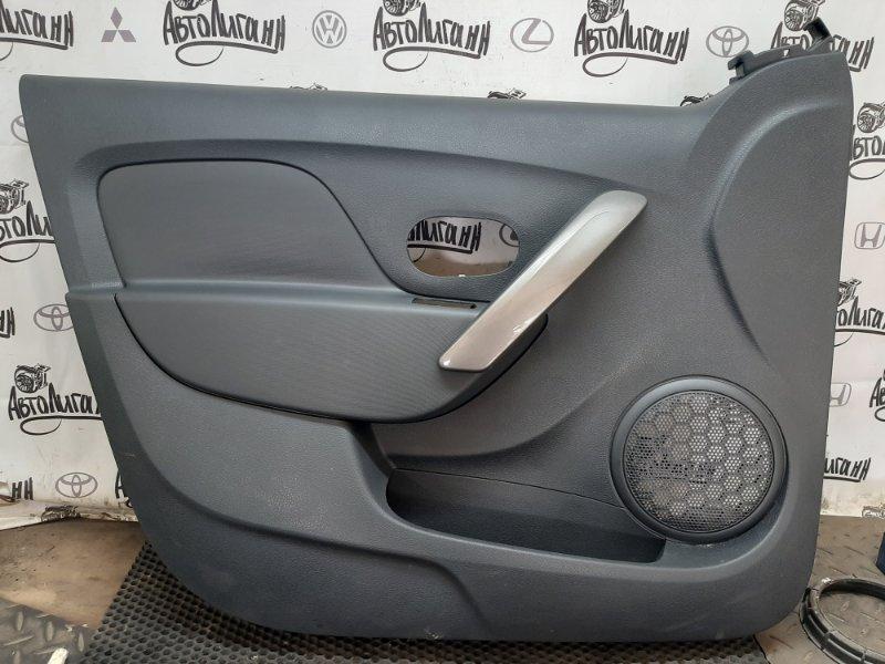 Обшивка двери Renault Logan 2 K7MA812 2018 передняя левая (б/у)