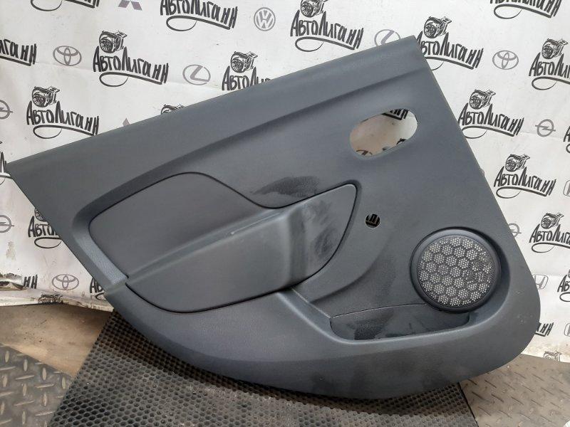 Обшивка двери Renault Logan 2 K7MA812 2018 задняя левая (б/у)