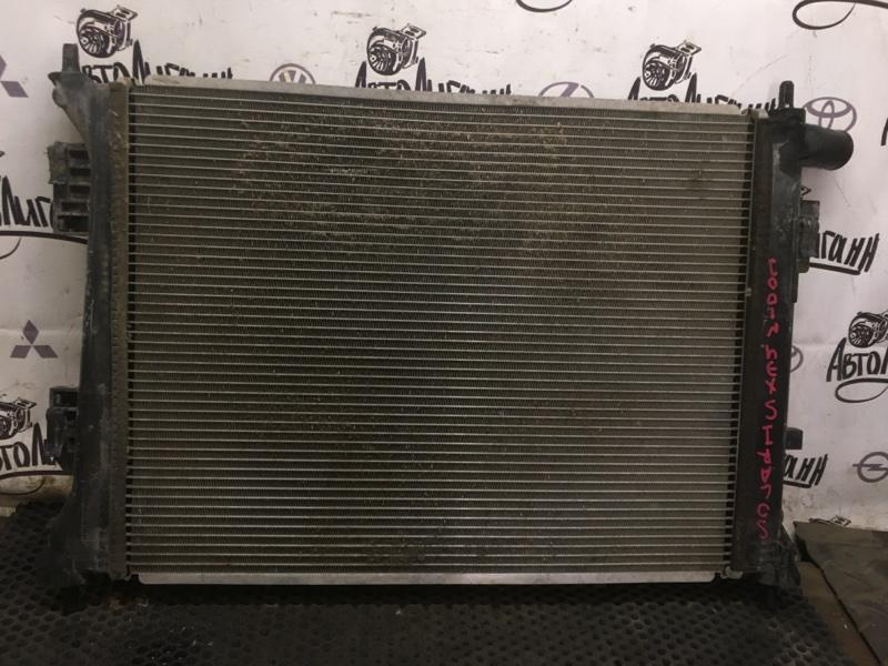 Радиатор охлаждения Hyundai Solaris ХЭТЧБЕК G4FA 2011 (б/у)