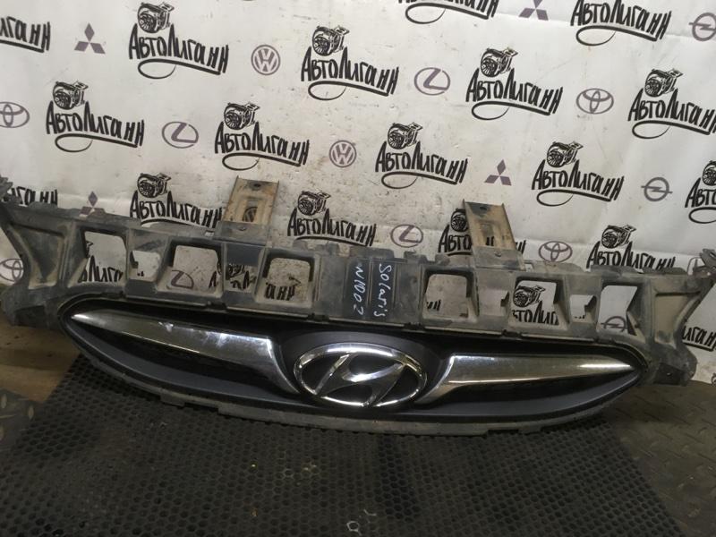 Решетка радиатора Hyundai Solaris ХЭТЧБЕК G4FA 2011 (б/у)