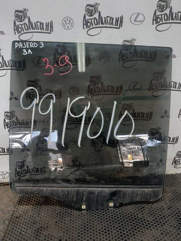 Стекло Mitsubishi Pajero заднее левое (б/у)
