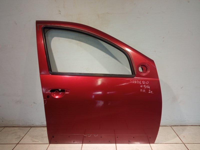 Дверь Renault Sandero K7JA710 2011 передняя правая (б/у)