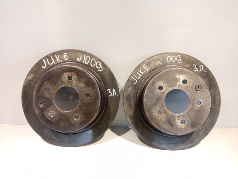 Тормозной диск Nissan Juke HR16 2011 задний (б/у)