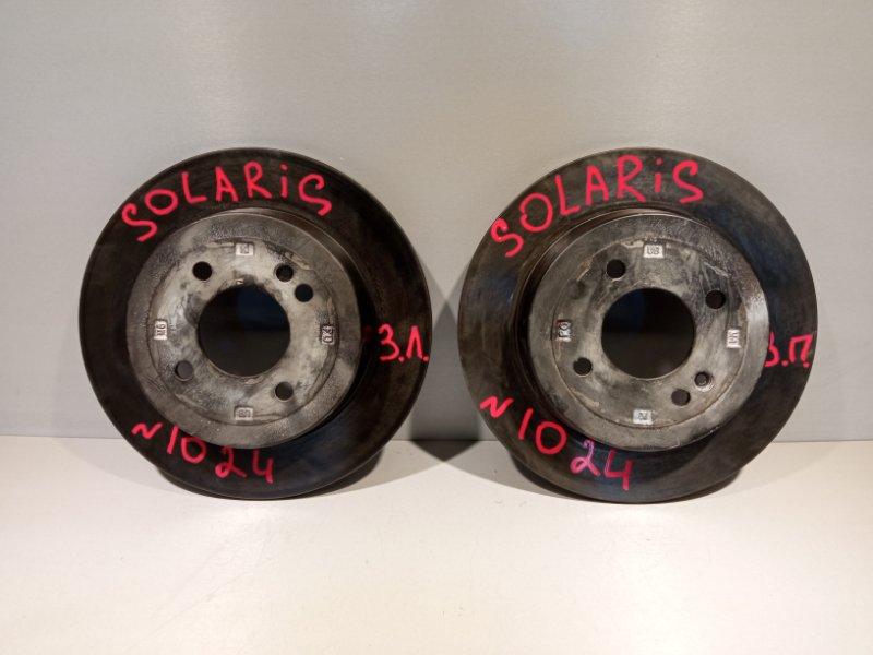 Тормозной диск Hyundai Solaris СЕДАН G4FC 2011 задний (б/у)