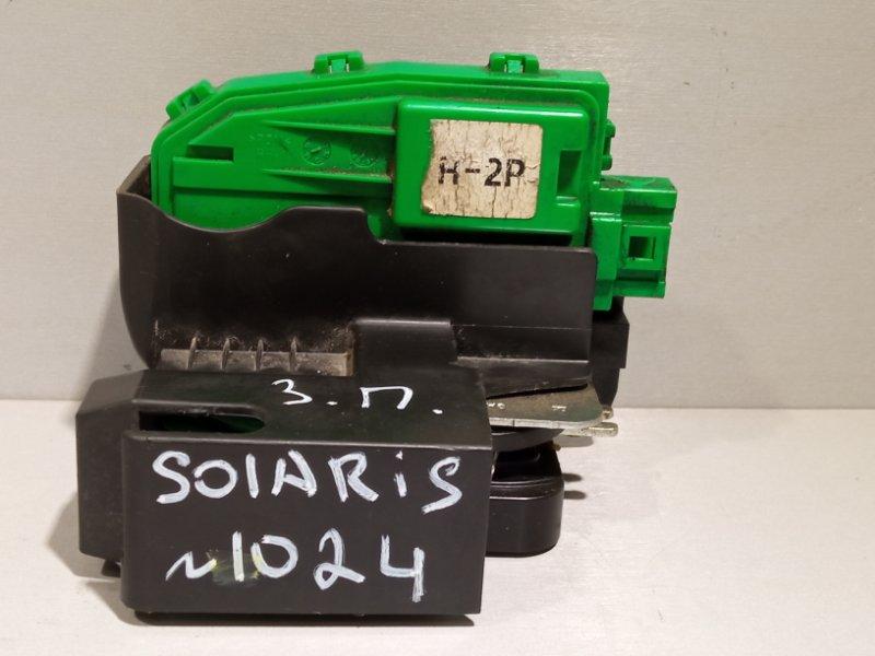 Замок двери Hyundai Solaris СЕДАН G4FC 2011 задний правый (б/у)