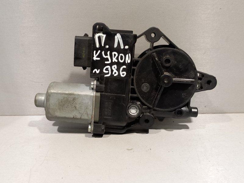 Мотор стеклоподъемника Ssang Yong Kyron D20DT 2011 передний левый (б/у)
