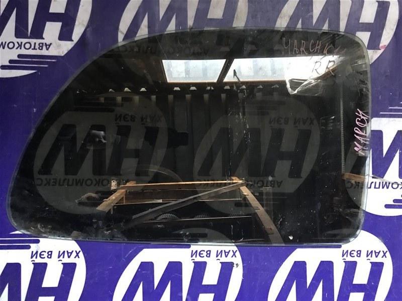Стекло собачника Nissan March K11 CGA3 заднее правое (б/у)